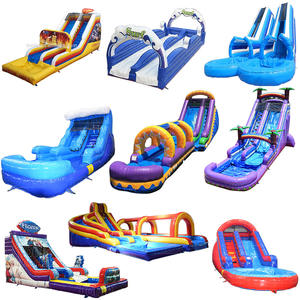 giant kids adult commercial inflatable water slide/ cheap waterslide with pool/ amusement park Inflatable slide for sale