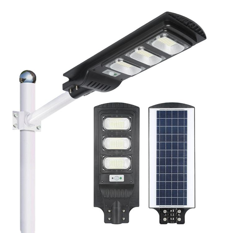 OKELI ABS PC Motion Sensor Solar Light IP66 waterproof 30w 60w 90w outdoor all in one solar light
