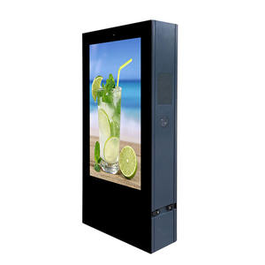55 inch outdoor sunlight readable advertising tv lcd panel monitor touch screen digital signage kiosk outdoor totem lcd display