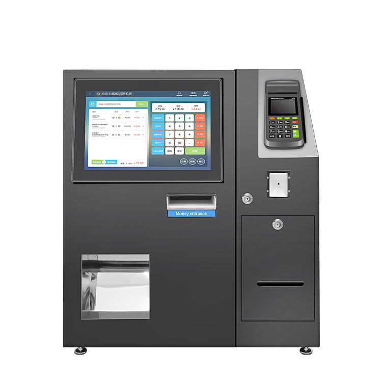 15 21.5 24 27 inch restaurant fastfood order self service touchscreen display cash acceptor payment kiosk lcd all in one display