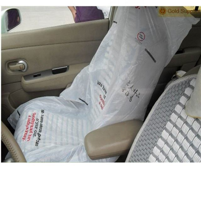 Full set of disposable clear plastic car seat cover for protection/High quality reasonable price PE car seat cover
