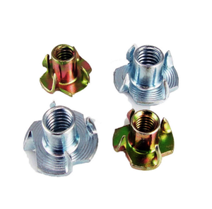 China Wholesale Custom Wood Thread Insert t-nuts Slot Drop In T Nut Stainless Steel Four Claw Tee Nut