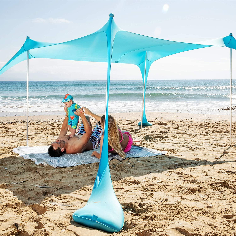 Sombra de Cabeza de Playa Personal port/átil Protecci/ón UV Mini toldo de protecci/ón Solar con Bolsa para tel/éfono m/óvil 80x50x55 cm N//Y Tienda de Playa emergente