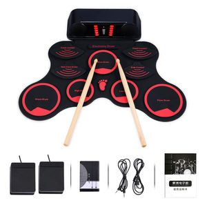 Novo design usb roll up drum kit de bateria elétrica midi conjunto 9 pad instrumento musical