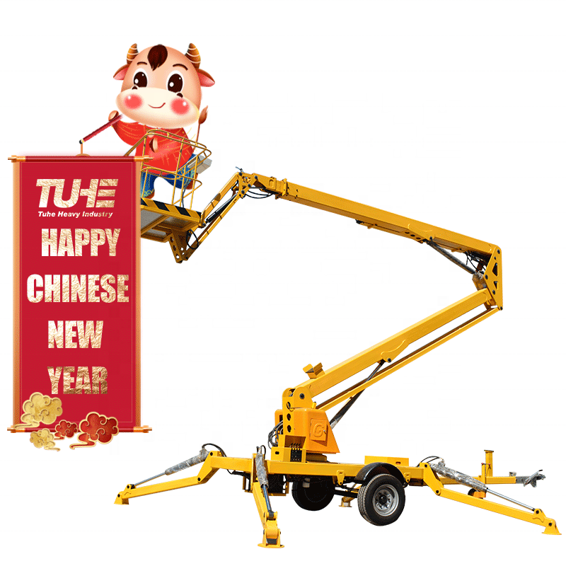 10m-22m Truck Dual Power Mounted Articulated Boom Lift Hydraulic Aerial Work Platform with Telescopic Arm