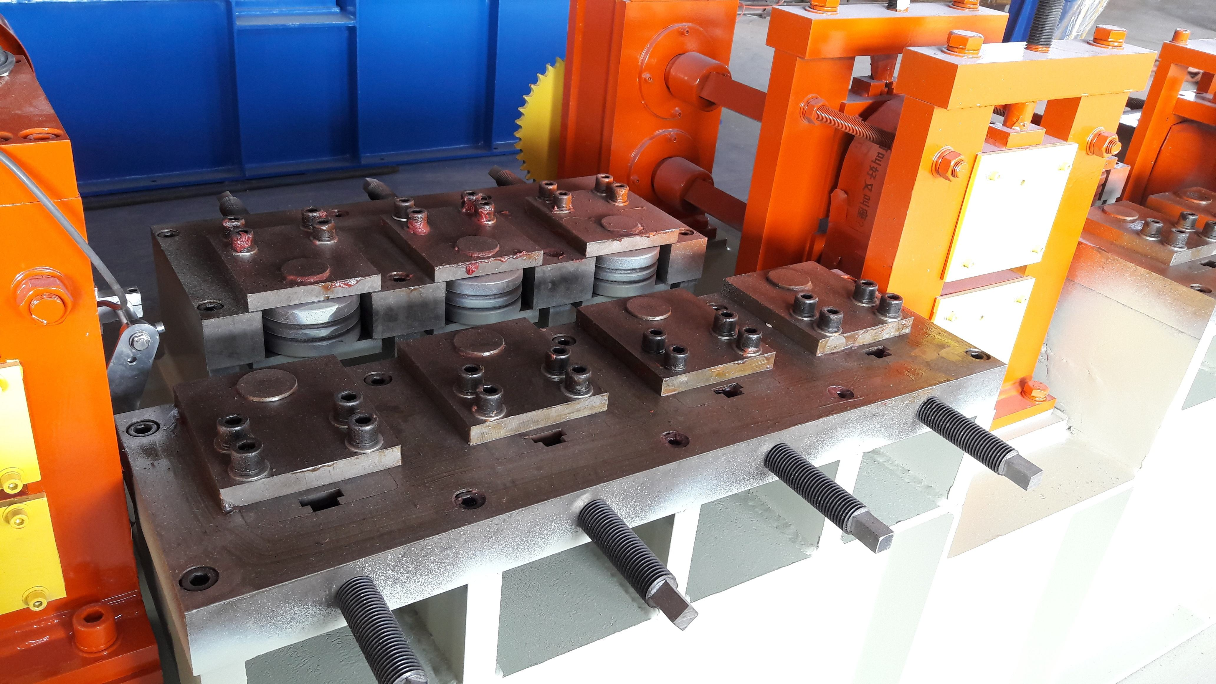2-6x100 carbon steel flat bar chamfering, deburring and cutting machine