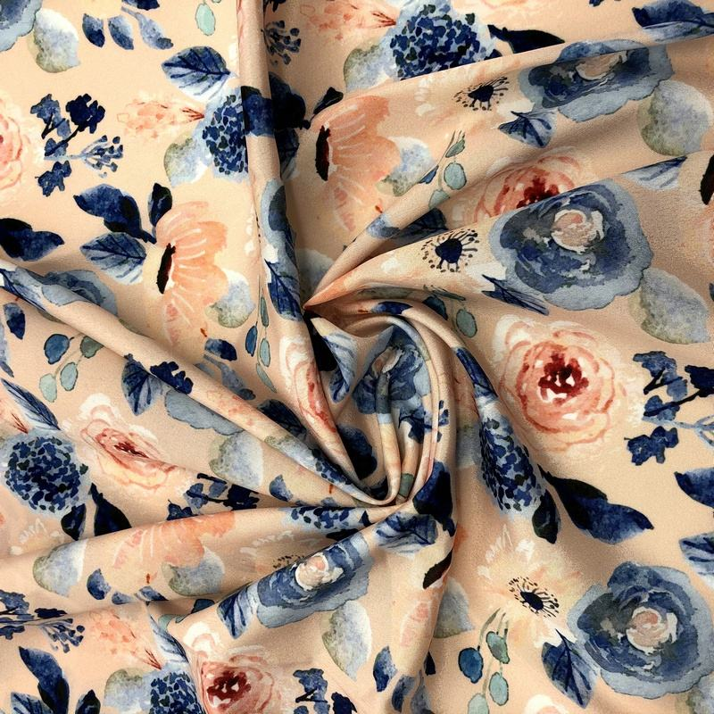 100% Polyester plain weave soft floral high target german keepsake calico print fabric