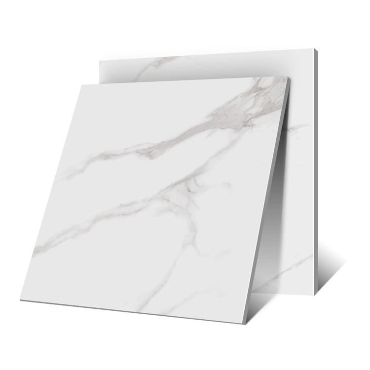 Wholesale Price White Carrara DK813 Full Body Polished Glazed Porcelain Floor Tile