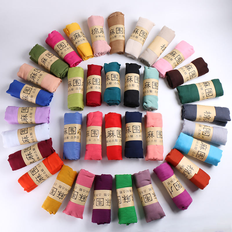 wholesale Soild color promotion gift cheap plain women scarves viscose scarf hijab