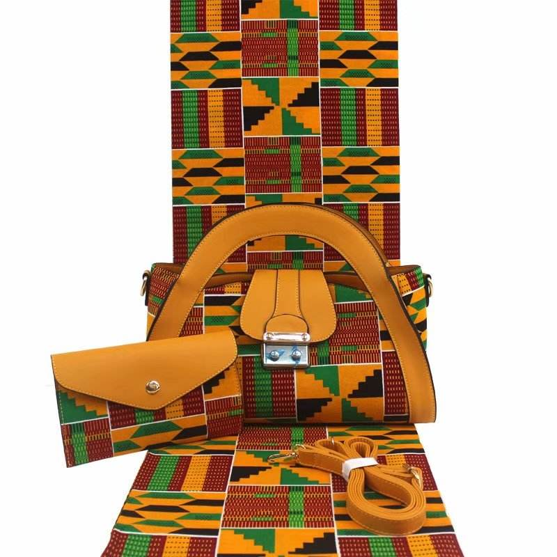 H & D Wholesale African Wax Bags Manufacturer Custom Designer Kente Style Bags For Women Handbags