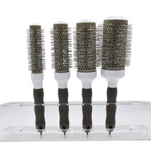Barber Hairdressing Salon Drying Natural Boar Bristles Blow Nano Ionic Thermal Hair Ceramic Round Brush