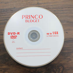 Good selling PRINCO blank disc with 1-16X 4.7GB DVDR