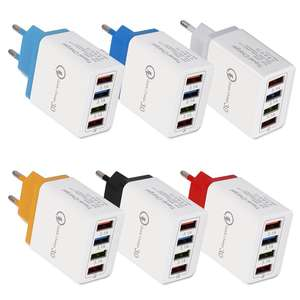 QC 3.0 Cepat Charger 4 Port 5V 3A USB Dinding Charger Universal Travel Adapter US/ EU/ UK plug Charger untuk Iphone Samsung