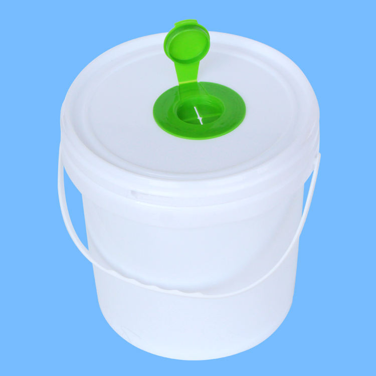 China Manufacturer Oem Household Large Packing Industrial Wet Tissue Wipe Packaging Bucket Dispenser