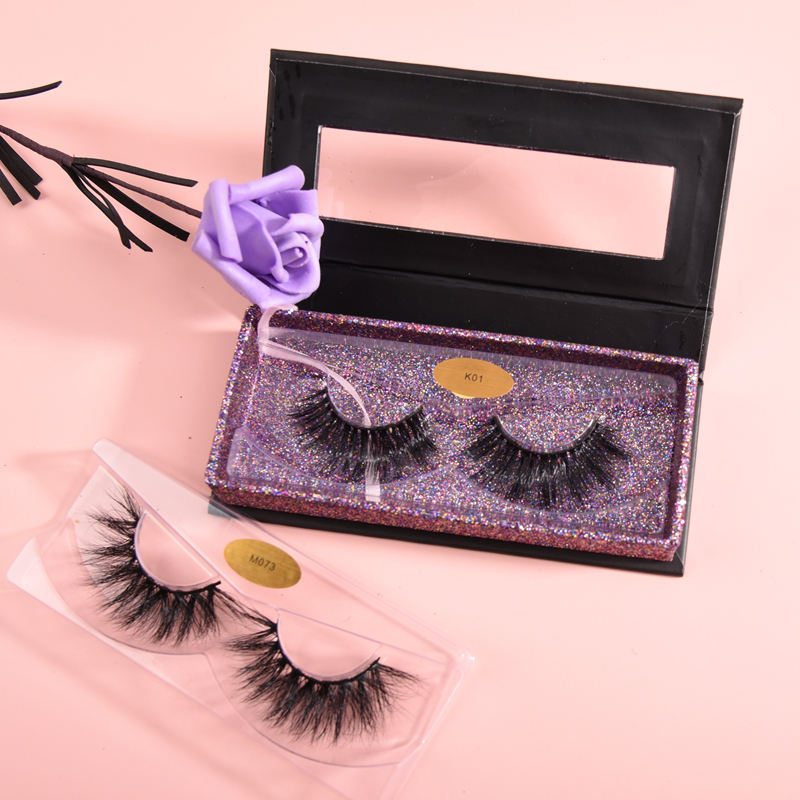 Heißer verkauf cruelty free wimpern private label wimpern diamant paket box 3d nerz wimpern