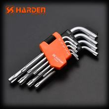 HARDEN Professional Universal Repair Tools 9PCS Cr-v Short Torx Key Wrench Set