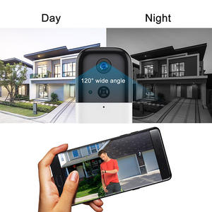 WiFi Battery Powered Smart Home Security Wifi Video Doorbell Phone Call Door Bell Camera with Motion Detection