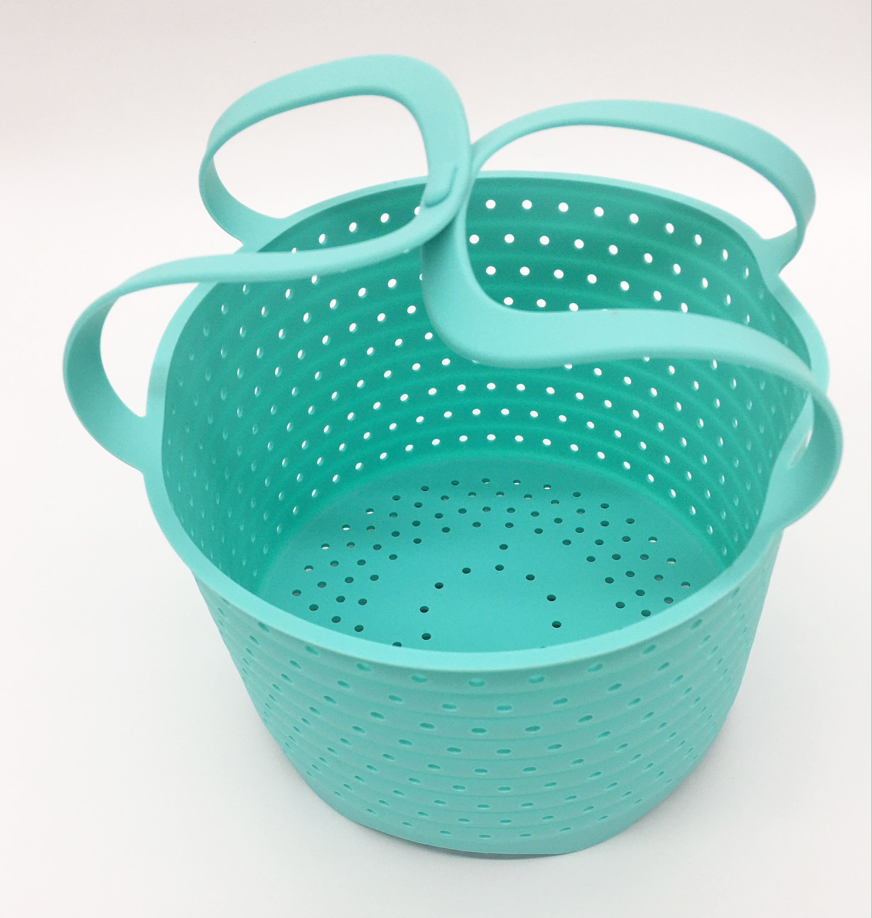 2020 New Coming Space-Saving Foldable Silicone Steamer Basket, IP POT Pressure Cookers Accessories Steamer