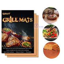Non stick Easy To Clean Reusable Copper PTFE BBQ Baking Grill Mat