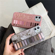 Hot Sale Soft TPU Eyeshadow Palette Pattern Makeup Phone Case for iPhone SE 2  6 7 8 Plus X XS XR XS Max 11 Pro Max