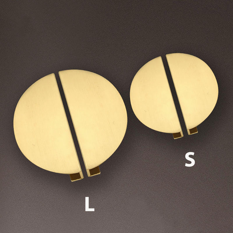 Half Round Brass Cabinet handle and knobs Kitchen Handle Brass Furniture Knobs for Kitchen Bedroom Luxury Drawer Pulls