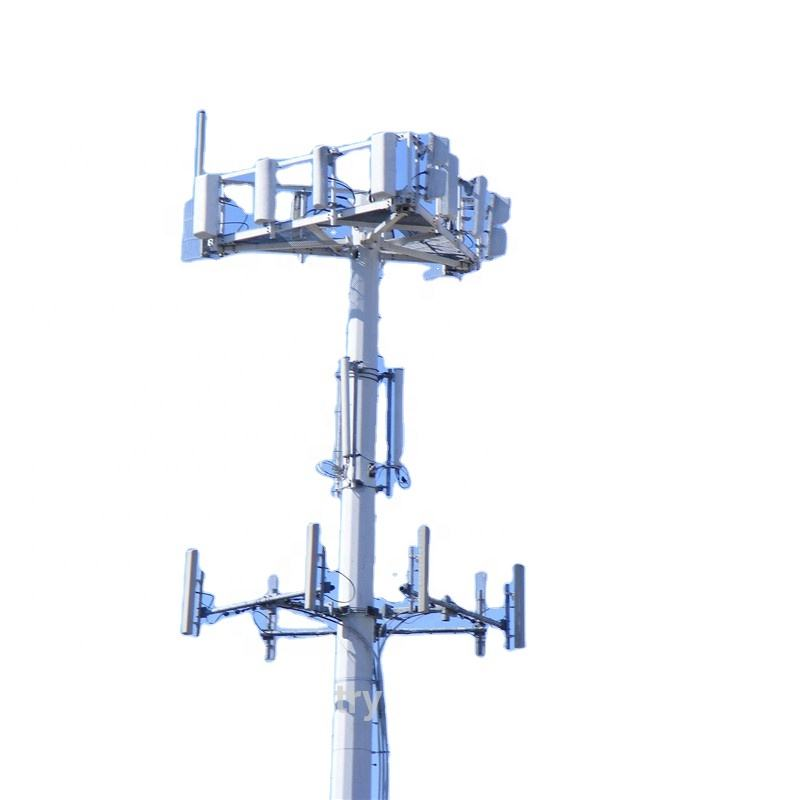 30 meter 40m Self Supported Steel Antenna Price Telecom Monopole Tower