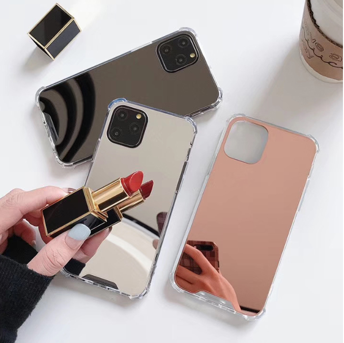 Fashion Tpu Makeup Mirror Case For Iphone Mobile Phone Protection Cover For Iphone 8 7 6s Plus Acrylic Case