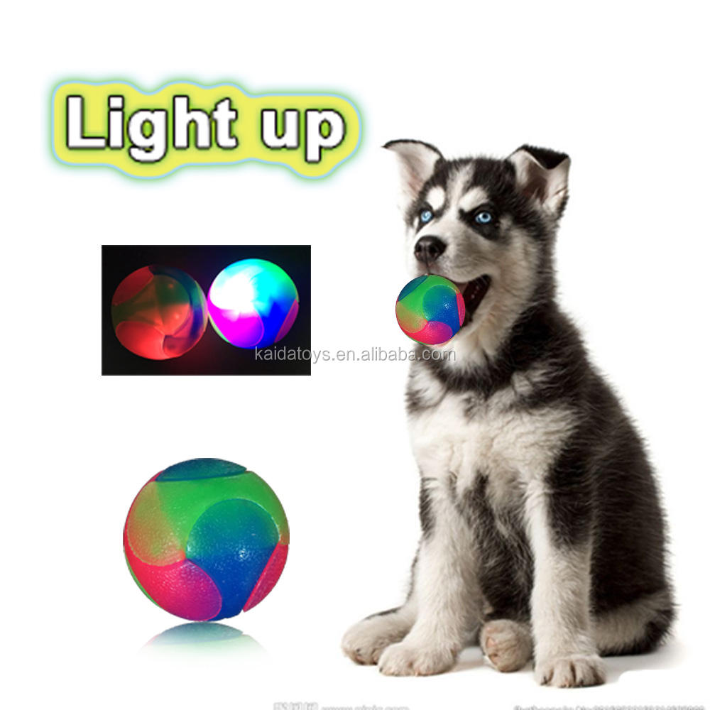 Sports Toy [ Toy Toys ] Ball Toy Pet Luminous Toy Bouncy Ball Bite-resistant Plastic Toys