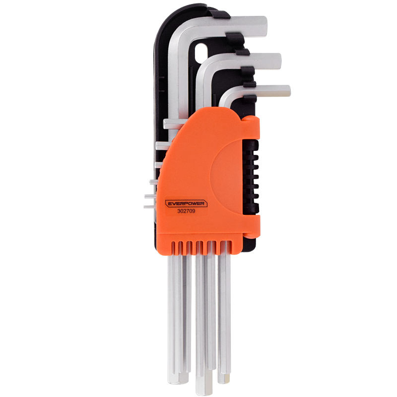 EVERPOWER Hot Sale Factory directly 9PCS LONG ARM HEX hex key set For furnitur