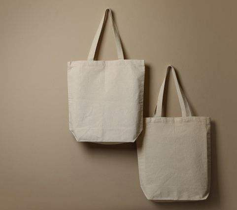 Customized logo printing recyclable 12oz cotton canvas shopper bag