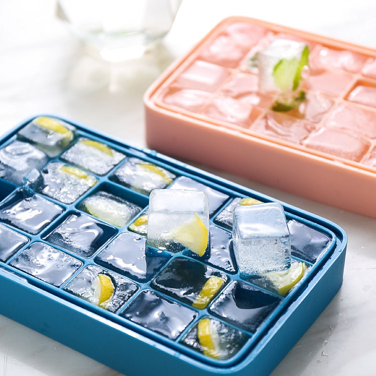 Colorful Food Grade Silicon Mold Ice Cube With Cover Ice Cream Mold