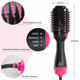 2 in 1 hot air rotating brush hair straightener curler Professional one step hair dryer with comb