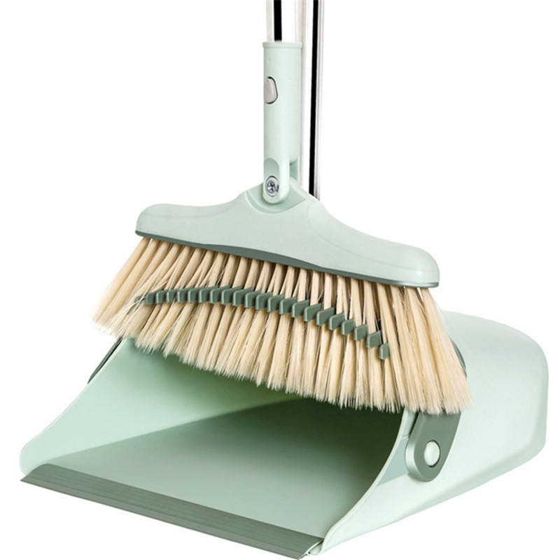Wind-proof broom and dustpan set,long Comb,steel pole,high quality floor cleaning products,Amazon hot seller wholesale price