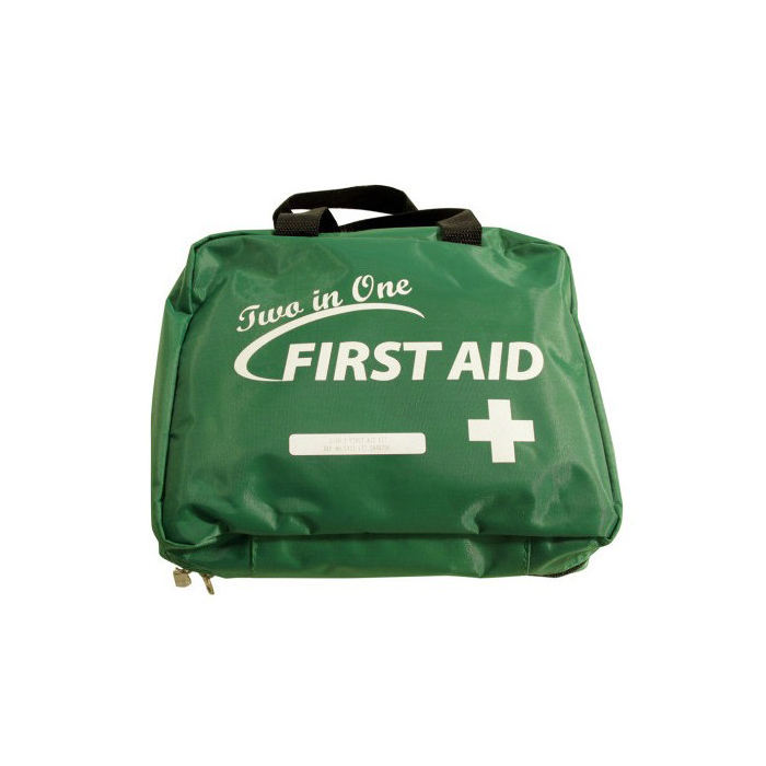 CE ISO FDA Approved KF375 Nylon Fabric emergency supply 2 in 1 first aid kit
