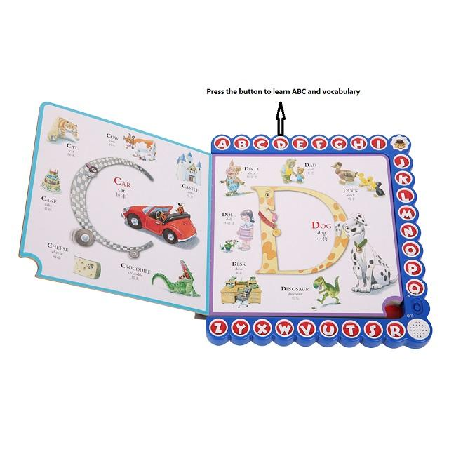 Professional Kids ABC Hardback Book Printing Spot UV Alphabet Learning English ABC Book