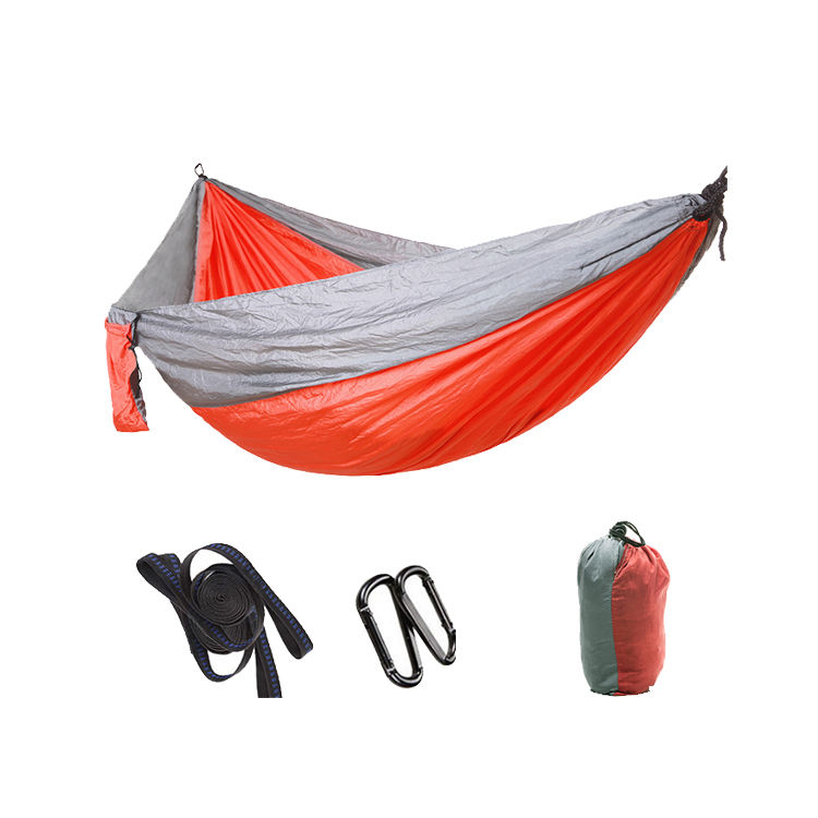 Adjustable outdoor camping hammock stand fold chair rope swing double screen hammock