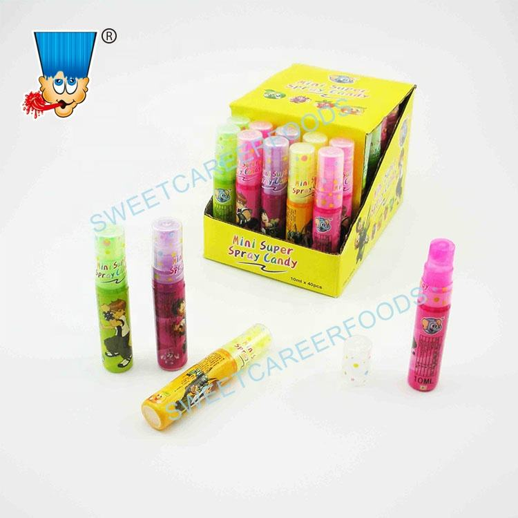Mixed fruit flavors mini super spray liquid candy