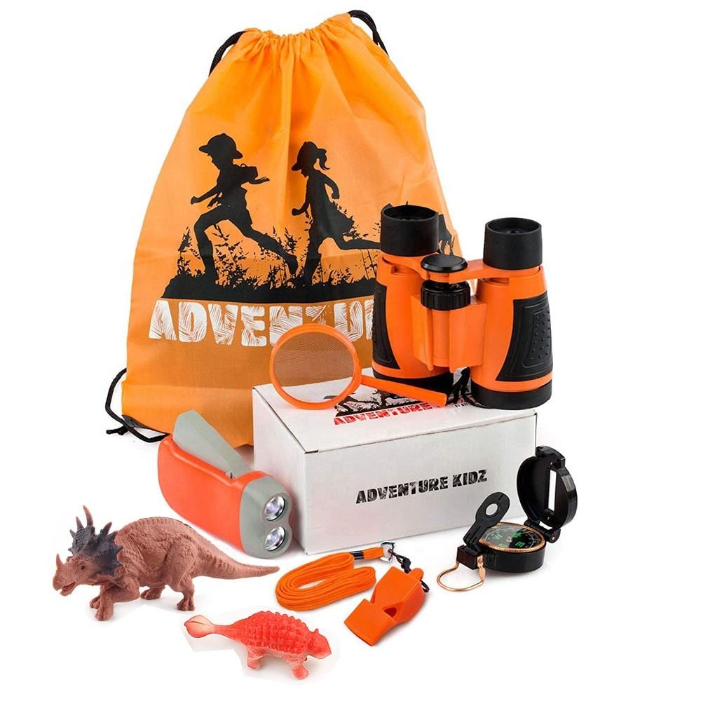 Outdoor Kit Toys for Kids Set 10 in 1 Adventure Kid Camping Exploration Toys Outdoor Explorer Kit