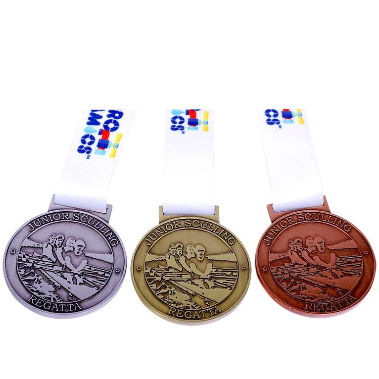 Wholesale custom design your own blank zinc alloy 3D Gold Marathon Running Sports Medal