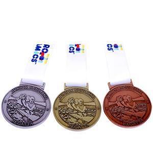 Wholesale custom design your own blank zinc alloy 3D Gold Marathon Running Sports Medal