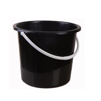 Home Supplies Wholesale 10Ltr Black Durable Cheap Plastic Water Bucket