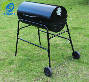 Chariot Baril Charbon Barneque Grill Huile Tambour BARBECUE BARBECUE Charbon De Bois Camping Pique Nique