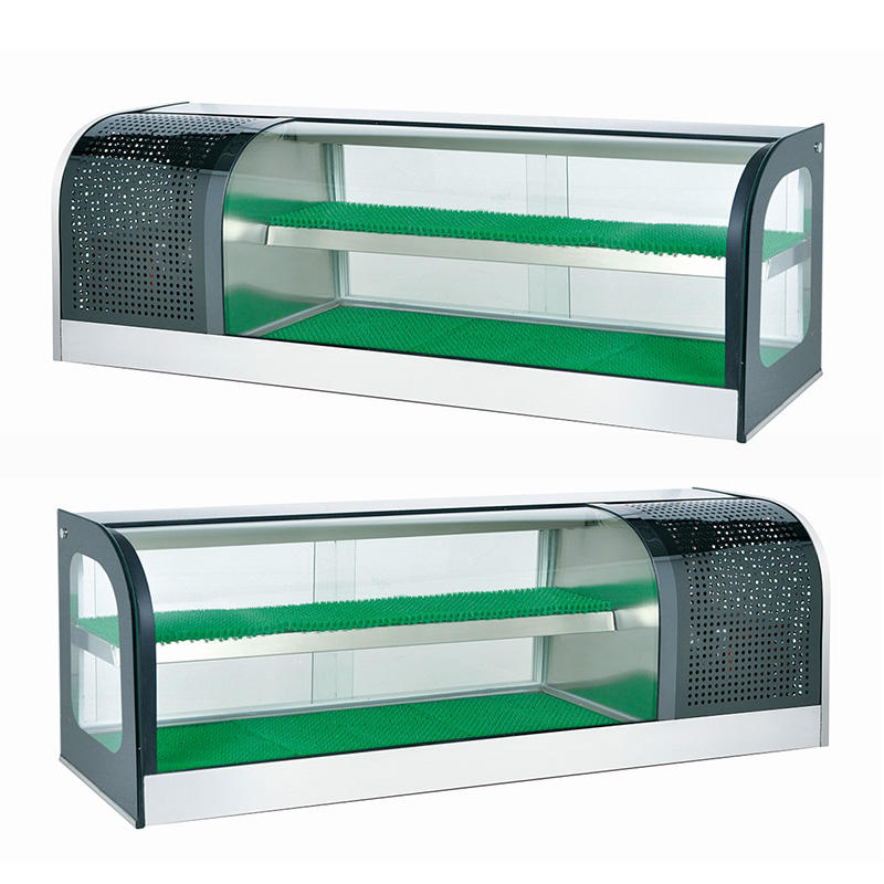 Thailand Sushi Bar 120 cm Counter Refrigeration Showcase With Double Layers Capacity