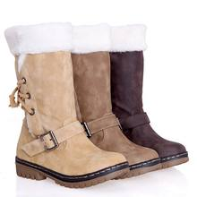 Classics Women Snow Boots Fashion Flat Heels Winter Shoes Warm Fur Spring Autumn Boots Women's Shoes