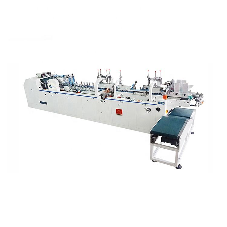Innovative type laser cutting long life carton box folder gluer pasting box machine