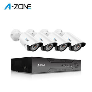 Nvr Kit 1080P 4Ch 4Pcs IR ONVIF PoE Plug dan Bermain Intercom 5 MP CCTV Xmeye IP Keamanan sistem Kamera Outdoor