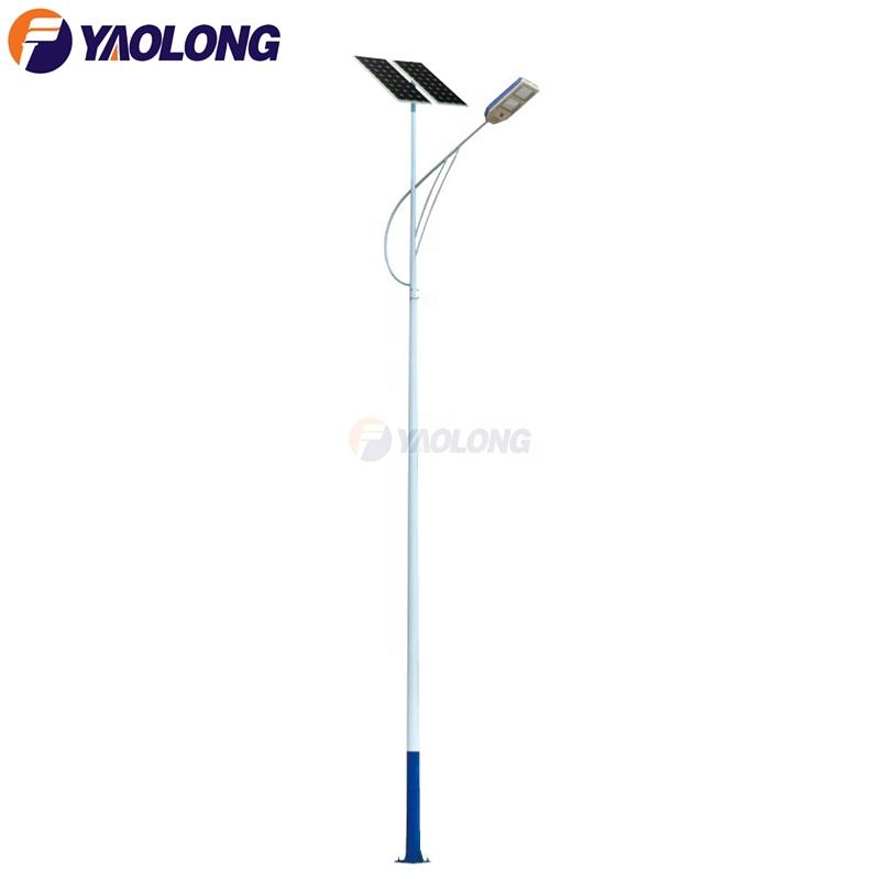 12m garden solar led street light parts with pole 200w