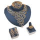 LAN PALACE Nigerian jewelry african coral beads jewelry set gold color ladies jewellery set earrings necklace ring bracelet