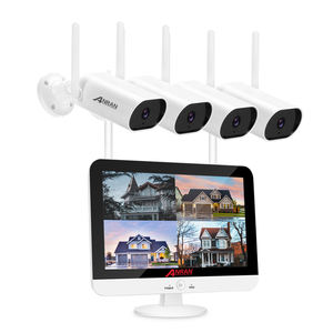 ANRAN 4 channel wifi 1080P nvr kit 4ch onvif 2mp hd camera wireless P2P home Waterproof audio security surveillance cctv system