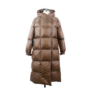 Custom High Quality Women Winter Outdoor Clothing Long Down Feather Jacket